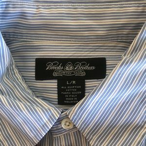 Blue stripped long sleeve brooks brothers shirt